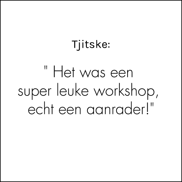Referentie: superleuke workshops