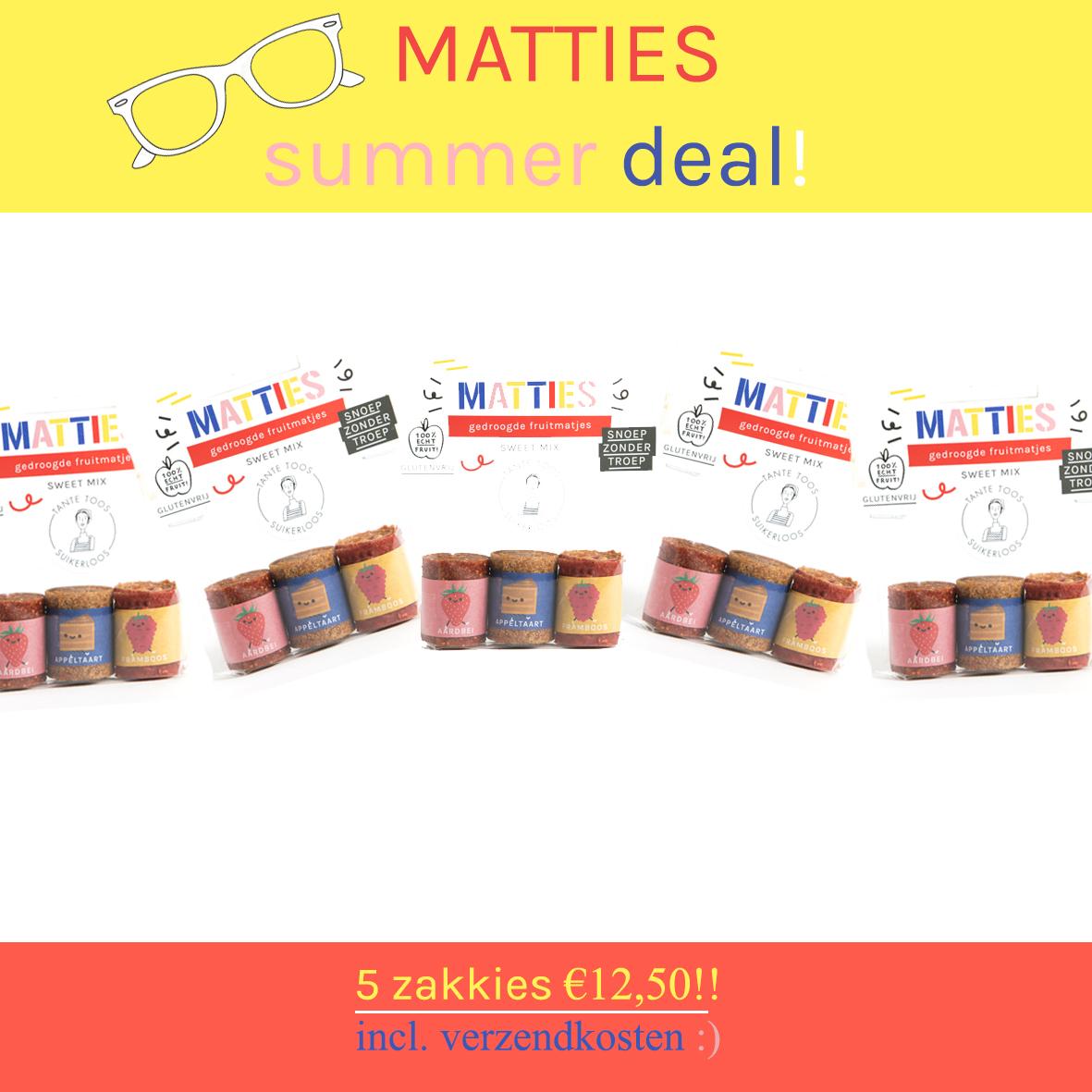 Suikervrij snoep MATTIES summer deal